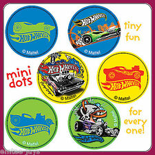 Hot Wheels Stickers - 48 Dots - 8 Sheets - Reward Charts Party Favours Loot Bags