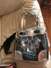 NFL SPORTS New York NY JETS Woman's Bag Purse Handbag Black & Silver NWT