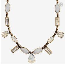 "Silpada ""Crystal Clear"" Quartz, Swarovski Crystals, And Brass Necklace KRN0016"