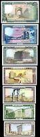 Lebanon 7 Pcs SET, UNC,1 5 10 25 50 100 250 Livres,1980-8,P-61 62 63 64 65 66 67