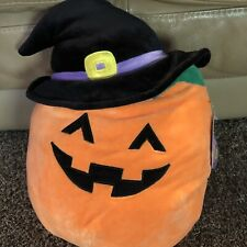 "12"" Kellytoy Squishmallow 2020 Halloween Collection Paige the pumpkin Orange Toy"