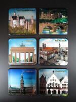 Untersetzer Coaster Germany,München,Hamburg,Berlin,Heidelberg ....6x
