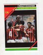figurina card - CALCIATORI MILAN  MASTER CARDS  - n. 128 PARTITE SENZA SCONFITTA