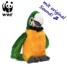 WWF Plüschtier Grüngelber Ara Papagei (mit Sound, 14cm) Kuscheltier Stofftier
