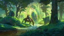 Poster 42x24 cm Videogame The Legend Of Zelda Breath Of The Wild Link 02