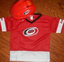 Carolina Hurricanes Kids  Franklin NHL Helmet & Jersey Set add  name number