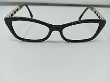 Authentic Chanel Glasses 3264-Q 501 Black/Gold 52mm 16 135 Frames