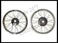 "19"" Wheel Rim Pair Complete With Spokes Half & Width Hub BSA Norton Enfield"