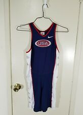 Vintage Nike USA Olympics Singlet Body Suit Track & Field, Wrestling Size Medium