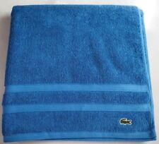 "Lacoste Bath Towel Blue 100% Cotton Size 30""x 56"" Brand New w/ Tags Authentic"