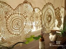 BOHO Vintage Crochet Doilies Shabby French Chic Window Cafe Curtain Lace Cream