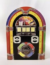 Vintage Bluetooth Jukebox Retro Wall Mounted Music Stereo Speakers MP3 USB iPod