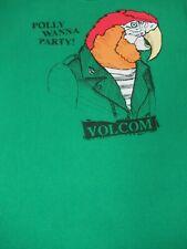 Volcom Pierre Perroquet Polly Je Veux Fête Vert Moyen T-Shirt F33