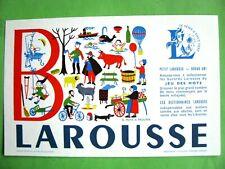 Ancien Buvard Dictionnaire Petit Larousse ALPHABET Jeu de Mots Lettre B