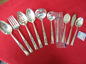 (10) Oneida Community Silverplate Serving Pieces, 1948 Morning Star  #13