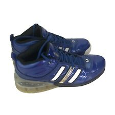 Adidas Mens Shoes Infantey Bounce Blue Gloss leather basketball Athletic