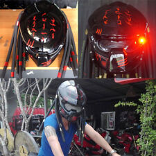 Custom Predator Helmet Glossy Black Motorcycle Casco : M L ( Ship to US only)