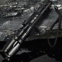 Bright 20000LM XM-L T6 LED ZOOMable Adjustable Focus Flashlight Torch Lamp
