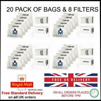 FITS MIELE GN COMPLETE C2 EXCELLENCE 10931750 VACUUM 20 DUST BAGS & 8 FILTERS