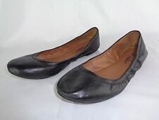 Lucky Brand Black Leather Ballet Flats Women's size 7.5 Shoes