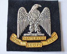 British Army Royal Scots Greys Bullion Blazer Badge