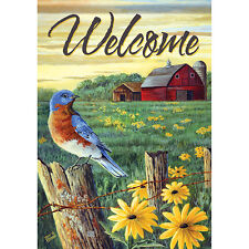 """New listing Ol' Homestead Welcome House Flag 28"""" x 40"""" Double sided Flag by Carson"""