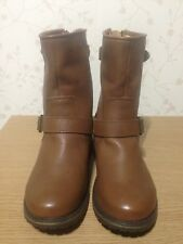SIZE 3 SKECHERS MEMORY FROM LADIES ANKLE BOOTS BROWN RRP £125