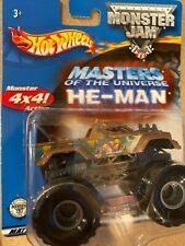 Rare 2002 Masters Of The Universe He-Man Hot Wheels  Monster Jam 1:64