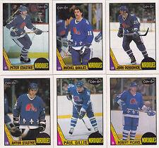 1987-88 OPC Quebec Nordiques team set NM-MT to Mint razor sharp