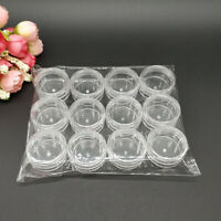 12Pcs 3/5g Plastic Empty Cosmetic Jars Cream Sample Makeup Storage Container
