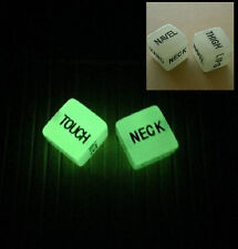 2PCS Erotic Dice Game Toy Sex Adult Couple Glow in the Dark Luminous Party Fun