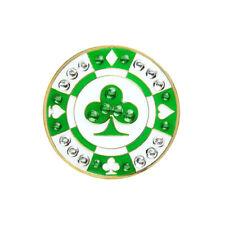NEW Navika Green Poker Chip Swarovski Crystals Golf Ball Marker with Hat Clip