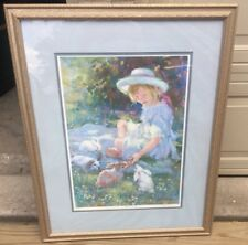 LYNN GERTENBACH LITHOGRAPH (CAITLIN'S BUNNIES) SIGNED  FRAMED/numbered 163/975