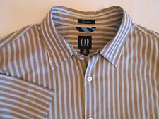 GAP Mens Casual Cotton Shirt Button Front Short Sleeve Relaxed Size M