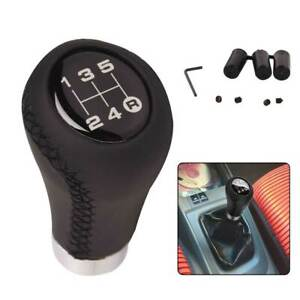 TOPAZ Universal 5 Speed Manual MT Leather Gear Shift Knob Stick Shifter Lever