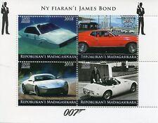 Madagascar 2018 CTO James Bond Cars 4v M/S II Stamps
