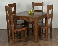 Valencia Square Dining Table 4 Chairs Dark Solid Sheesham Rosewood RRP £609!!