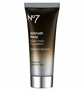 No7 Airbrush Away Sheer Finish Foundation 40ml - Medium - New & Boxed - Free P&P