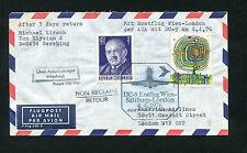 AUA Erstflug  Wien - Salzburg - London mit der   DC-9  am 04.04.1976   (FP-10)
