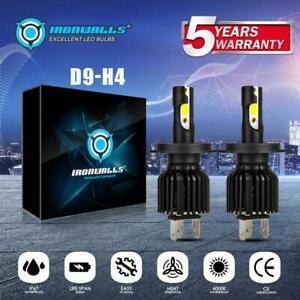 H4 9003 HB2 LED Headlight Bulb Conversion Kit High Low Beam 6000K 330000LM 2200W