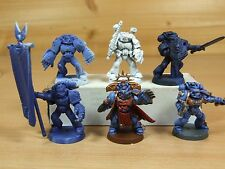 PLASTIC SPACE MARINE COMMAND SQUAD AND COMMANDER PART PAINTED (098)