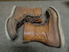 VTG RED WING 877 BOOTS SZ 11D MEN LEATHER RUBBER 70S USA HUNTING WOK MOC