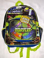 "KID BOY 2 PC TMNT TEENAGE MUTANT NINJA TURTLES 15"" BACKPACK & LUNCHBOX COMBO NWT"