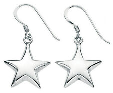 Silver Star Drop Earrings with Giftpouch