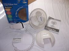 Holmes 6 Inch Clip/Table Fan 2 Speed White New