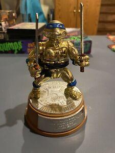 1992 PLAYMATES TMNT LEONARDO 5TH ANNIVERSARY GOLD ACTION FIGURE  NO BOX.