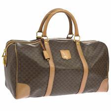 CELINE Macadam Travel Boston Hand Bag Brown PVC Leather Vintage M14 AK35426