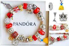 PANDORA 925 Charm Bracelet with European Charms Snow White Apple Disney Beads