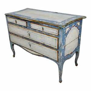 18th Century Swedish Gustavian Blue Painted Commode