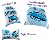 Cronulla Sharks 2017 NRL Quilt Cover Doona Single Double Queen King Pillowcase